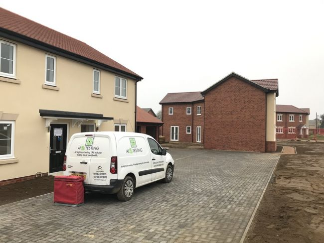 Mixed houses and bungalows air tightness tested in Mildenhall, Suffolk
