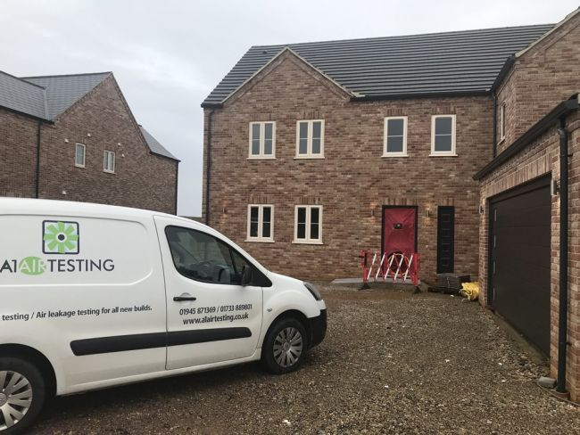 Air Tightness test on this 5 Bed Detached House