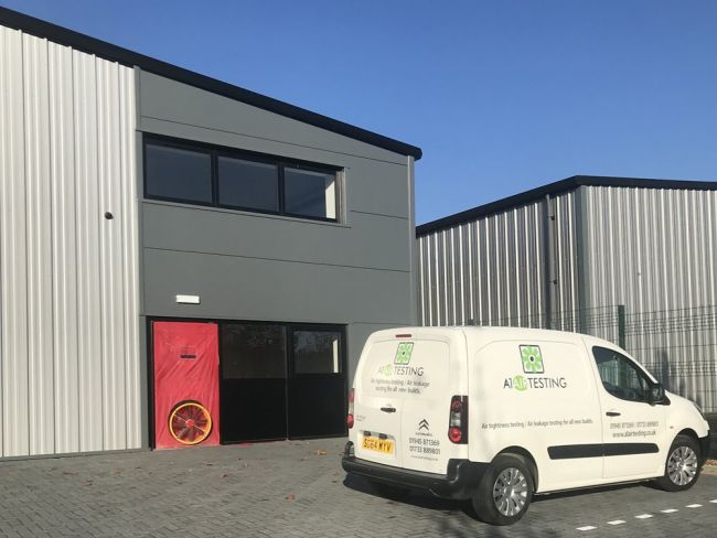 Factory Unit Air Tightness tested in near Peterborough